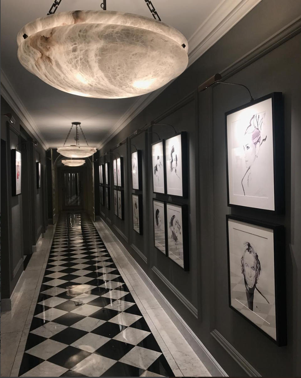 claridge's london picture lights fashion week hogarth picture lights