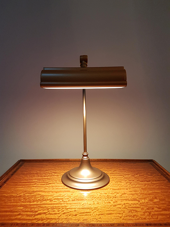 hogarth desk table lamp lights picture bespoke bookcase lights