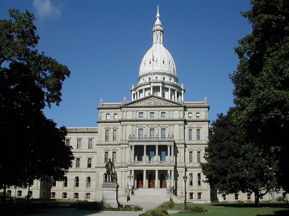 michigan state capitol building renovation picture lights by hogarth lighting