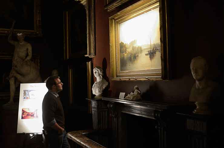 petworth house picture lights hogarth national trust mr.turner
