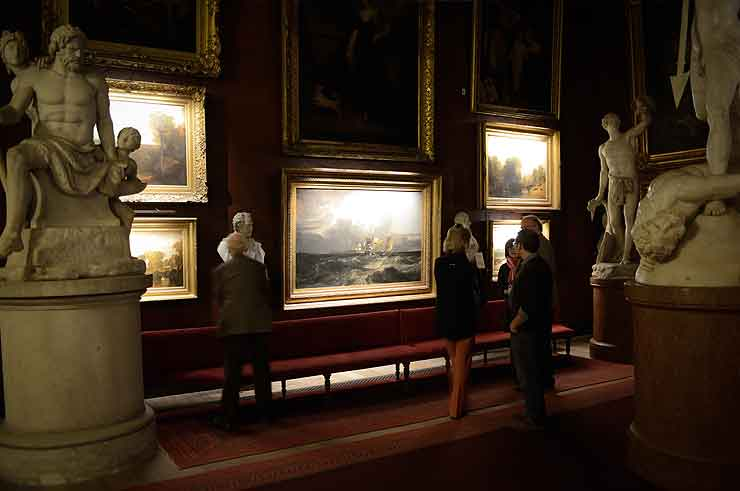 petworth house in the north gallery national trust picture lights