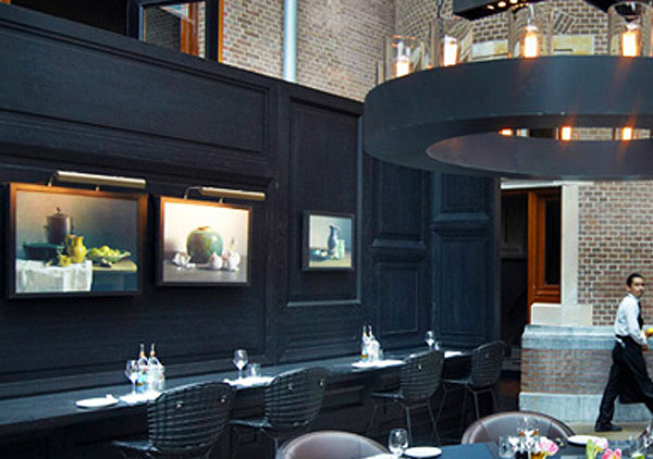 Conservatorium Hotel in Amsterdam with Hogarth picture lights