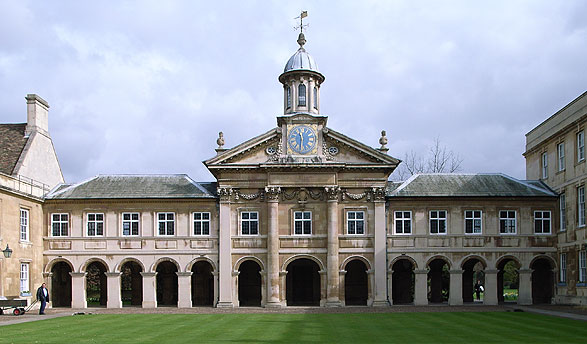 Emmanuel college Cambridge, England - install our LED picture lights - Hogarth Lighting