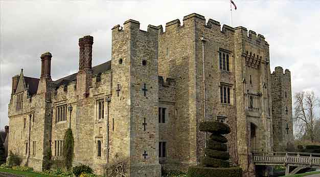 Hever Castle, Kent with Hogarth picture lights