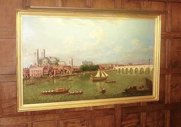 ironmongers hall paintings lit by hogarth lighting