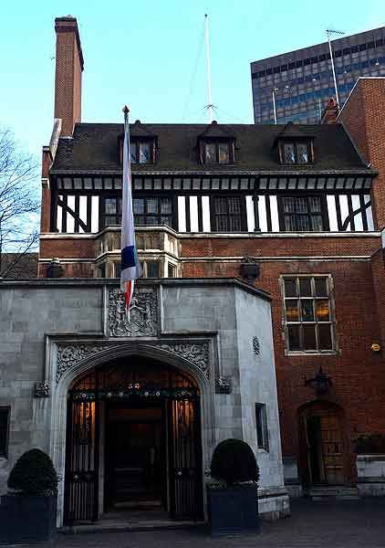 ironmongers hall install Hogarth picture lights, contemporary picture lights, large paintings.