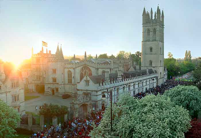 Magdalen College Oxford installed Hogarth picture lights