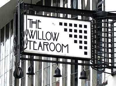 the willow tea rooms Glasgow lit by Hogarth picture lights