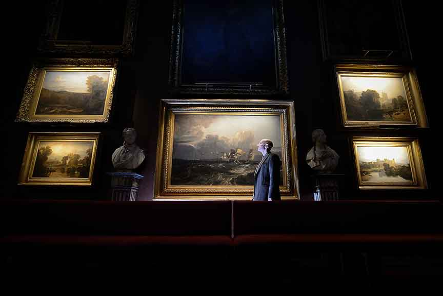 Hogarth lighting selected to light petworth house turner exhibtion - national trust