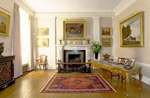 weston park Hogarth picture lights illuminating paintings in this fine estate house
