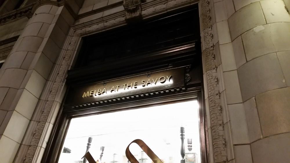 Hogarth fine art picture lights the savoy hotel london melba restaurant outdoor sign lights mozeypictures Gallery