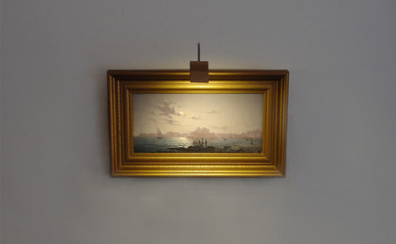 hogarth picture light on miniature oil painting