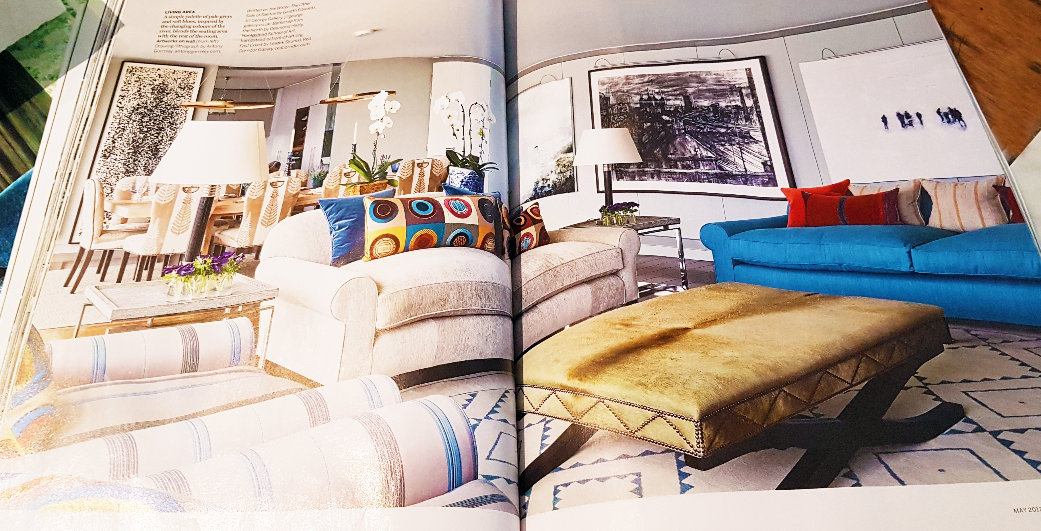 modern lighting press house and gardens magasine apartment by hogarth lighting pencil picture light