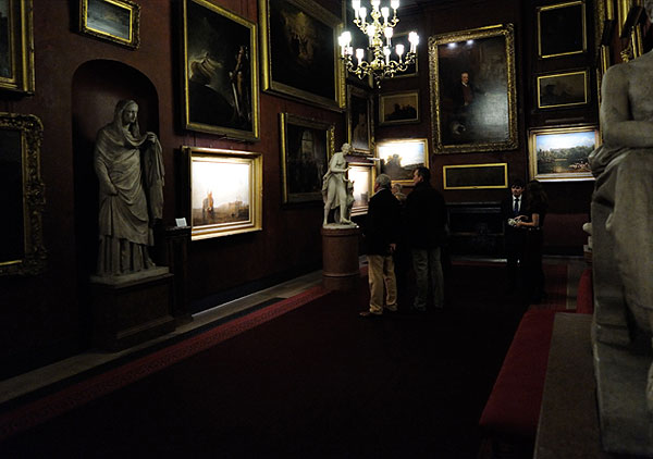 hogarth picture lights lighting petworth house mr.turner exhibition north gallery view